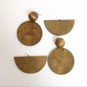 Wood Statement Earrings